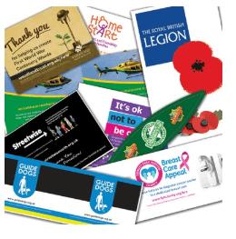 charity box labels