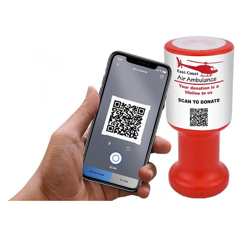 qr code charity box